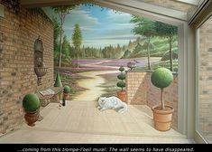 Real trompe-l'oeil murals made by Eddie VAN HOEF.
