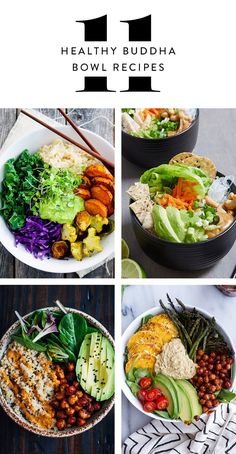 Bookmark this for a variety of healthy buddha bowl recipes for lunch + dinner.