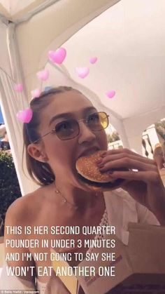 Bella wrote: 'This is her second quarter pounder in under three minutes and I'm not going ... #gigihadid