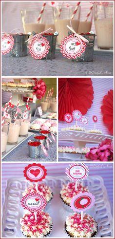 Valentine's Day Dessert Table