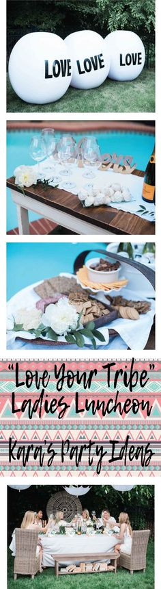 """""""Love Your Tribe"""" Ladies Luncheon Party via Kara's Party Ideas"""