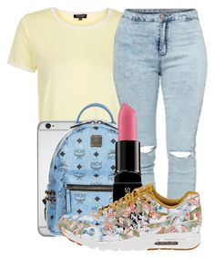 """""""Untitled #275"""" by kenziesg ❤ liked on Polyvore featuring Topshop, MCM, Smashbox and NIKE"""