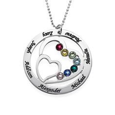 Mothers Day Gifts - Heart Birthstone Necklace | MyNameNecklace