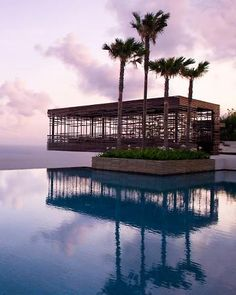 Alila Villas Uluwatu Luxury Resort, Bali, Indonesia;  infinity pool in front of a building at the resort;  very expensive!