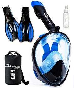 342363d5e Discounted SNORKELSTAR Snorkel Set for Adults  amp  Kids+Gopro Mount -  Snorkel Mask