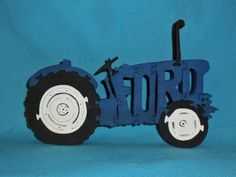 Ford Tractor Scroll Saw Wooden Puzzle by huebysscrollsawart, $14.00