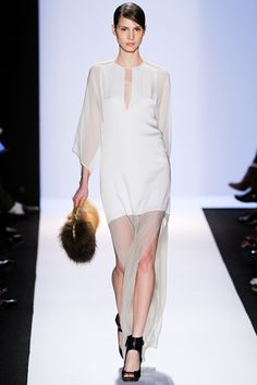 BCBG Max Azria FW 2012    confirmation that this collection stuck out to me at NYFW. sheer-blocking is such a greta way to add interest without colour.