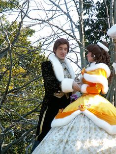 Belle and Prince Adam (Beast)