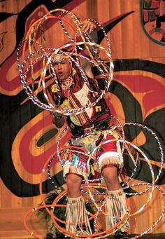 Hoop dancer, from the Alberta Cree Nation.