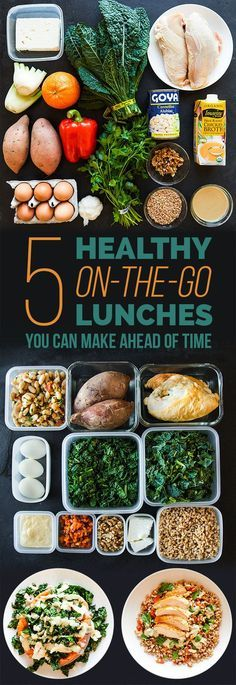 5 healthy on the go lunches