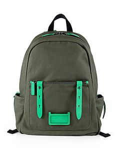 Marc by Marc Jacobs Canvas & Leather Backpack