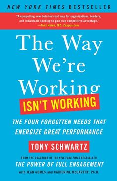 "This book was previously titled, Be Excellent at Anything.The Way We're Working Isn't Working is one of those rare books with the power to profoundly transform the way we work and live. Demand is exceeding our capacity. The ethic of ""more, bigger, faster"" exacts a series of silent but pernicious costs at work, undermining our energy, focus, creativity, and passion. Nearly 75 percent of employees around the world feel disengaged at work every day. The Way We're Working Isn't Working offers a…"