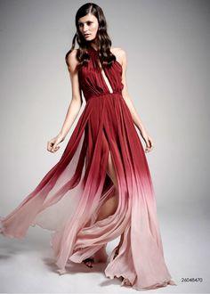 vestido longo fluido, leve, degradê Vivaz - Outono Inverno 2015