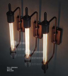 industrial style Steam pipe wall lamp vintage wall light Edison wall lamp contains bulbs free shipping