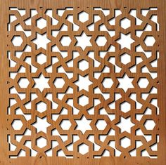 Laser-Cut Pattern | dining room armoir with laser cut panels arabic geometric pattern ...