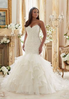 Juliettta Collection by Morilee: Wedding Dresses and Bridal Gowns by Morilee designed by Madeline Gardner. Plus Size Lace Meets Organza Wedding Dress