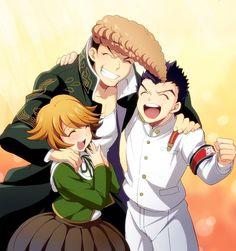 Mondo Owada, Ishimaru Kiyotaka and Chihiro Fujisaki Danganronpa Chihiro, Danganronpa Game, Danganronpa Characters, Ishimaru Kiyotaka, Danganronpa Trigger Happy Havoc, Fandoms, Video Game, Animation, Fan Art