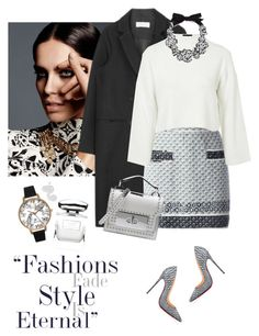 Chanel knit skirt by lera-chyzh on Polyvore featuring polyvore мода style Topshop Chanel Christian Louboutin Marc Jacobs J.Crew Olivia Burton By Terry Illamasqua vintage fashion clothing outfit knitskirt