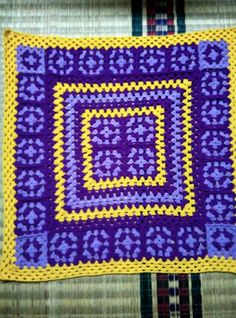 My new crochet blanket. Ouma Devi