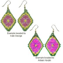 Phyllis Earrings Beading Pattern by Arleen Hardin at Bead-Patterns.com
