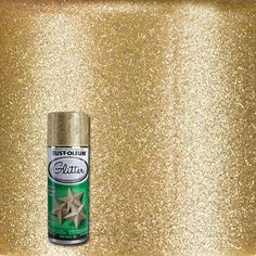 I don't care what.  SOMETHING is getting painted!  Rust-Oleum Specialty 10.25 oz. Gold Glitter Spray Paint (6-Pack)-267689 - The Home Depot