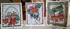 Here are a few more of the Christmas Cards I have been working on.  I used Heartfelt Creations Sparkling Poinsettia stamps, paper and dies.  Love how they came out. #Christmas Cards #Heartfelt Crea…