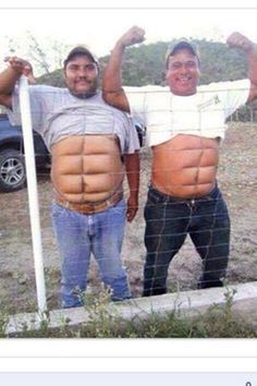 If you don't wanna work for the abs then get Instant abs. two fine examples of temporary instant abs You Make Me Laugh, Laugh Out Loud, Funny Kids, The Funny, Funny Men, Funny People, Drunk People, Funny Cartoons, Funny Jokes