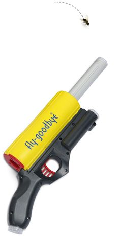 Fly-Goodbye Bug Vacuum Gun    The best way to get rid of nasty, annoying bugs