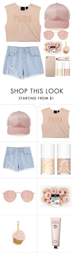 """""""look through your pink sunglasses"""" by idonthavebrains ❤ liked on Polyvore featuring Puma, Uslu Airlines, Ray-Ban, Edie Parker and Bobbi Brown Cosmetics"""