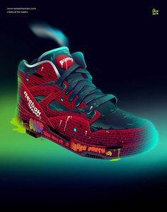 Romain-Trystram-soles-of-the-week-20 Sneakers Wallpaper, Shoes Wallpaper, Nike Air Huarache, Sneakers Sketch, Sneaker Posters, Air Jordans, Handy Wallpaper, Nike Air Max 2012, Baskets