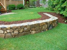 some simple ideas to build a cheap but nice looking rock wall