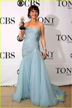 31. Style Queen Catherine Zeta-Jones in dazzling smoke blue Atelier Versace at the Tony Awards 2010.