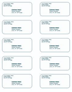 word shipping label template