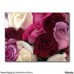 Roses Floral Postcard