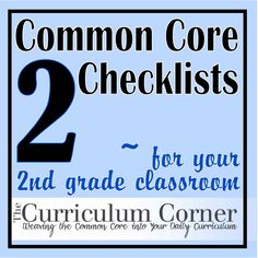 2nd Grade Common Core Standards Checklist!  Make sure your instruction includes all that is expected and needed for 2nd graders to be successful.  Print these checklists for Reading, Writing, Language, Speaking & Listening and Math.