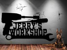 Mechanic's Workshop Sign - Toolbox - Shop Sign - Tool Sign - Customize It Personalized Sign - Metal Wall Art by UpNorthSign on Etsy https://www.etsy.com/listing/278823650/mechanics-workshop-sign-toolbox-shop