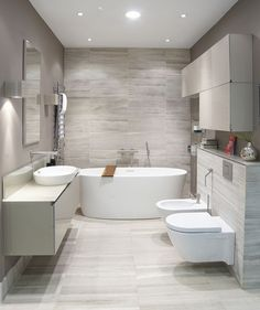 Here are the Contemporary Bathroom Design Ideas. This article about Contemporary Bathroom Design Ideas was posted under the Bathroom category. Modern Bathroom, Contemporary Bathrooms, Bathroom Tile Designs, Luxury Bathroom, Grey Bathrooms, Tile Bathroom, Contemporary Bathroom Designs, Bathroom Interior Design, Bathroom Design