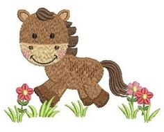 Farm Animals 4 - 4x4 | What's New | Machine Embroidery Designs | SWAKembroidery.com Horse Ace Points Embroidery