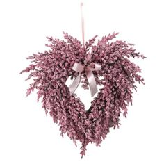 Sweet And Gorgeous Lavender Heart Wreath In Pink