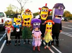 Cool Homemade Minion-Invasion Group Costume... Coolest Halloween Costume Contest