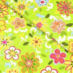 Barevné květy na zelené