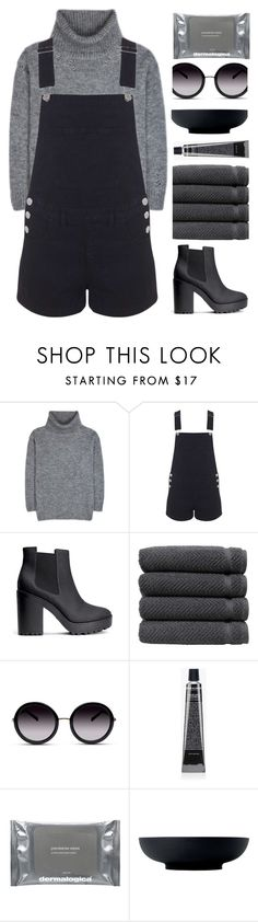 """Throne"" by hevsyblue2 on Polyvore featuring Yves Saint Laurent, Miss Selfridge, H&M, Linum Home Textiles, GlassesUSA, Grown Alchemist, Dermalogica, Royal Doulton, denim and polyvoreeditorial"