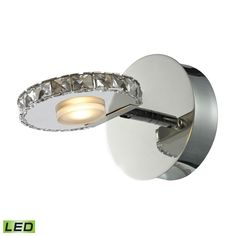 Spiva 1 Light Vanity In Polished Chrome And Crystal Banding 54000/1
