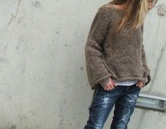 iLE AiYE UK / Soft Comfy Brown sweater, via Etsy.