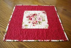 Quilted Floral Table TopperTable Topper by SharleesQuiltCottage