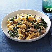 Campanelle with Mushrooms and Kale Recipe