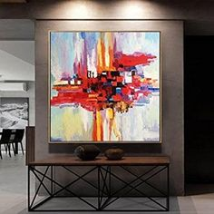 Abstract Paintings by Professional Artists by TrendGallery on Etsy Red Abstract Art, Abstract Canvas, Canvas Wall Art, Painting Abstract, Diy Canvas, Acrylic Paintings, Black And White Painting, Black And White Abstract, Original Art