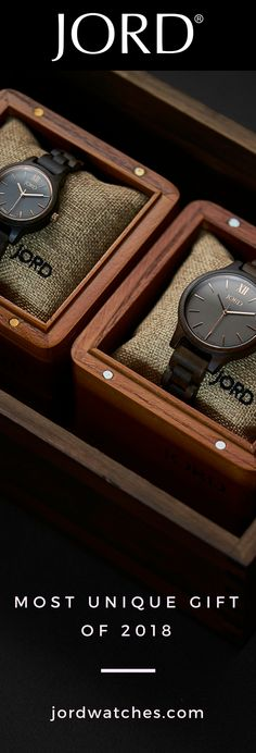 JORD's line of natural wood watches are the most unique gift to give for Durable, design forward, and manufactured using luxury components. Find their Unique Gifts, Great Gifts, Swiss Army Watches, Wooden Watch, Men's Grooming, Looks Style, T 4, Luxury Watches, Natural Wood