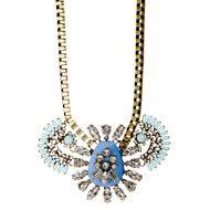 Blue Fan Pendant Necklace $99.00 $10.00 SALE