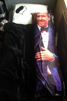 Ryan Gosling Life Sized Body Pillow Lockhart Lockhart Lockhart Schlaud haha sorry just thought you'd find this interesting haha =) Although it looks like Patrick Dempsy. Humor Mexicano, Just In Case, Just For You, Ryan Gosling, Hey Girl, Just For Laughs, Decoration, Crate And Barrel, The Funny